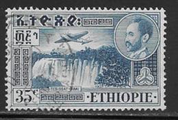 Ethiopia Scott # C27 Used Airplane Over Waterfalls, 1955 - Ethiopia