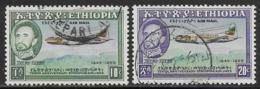 Ethiopia Scott # C38, C40 Used Airplane Over Mountains, 1955 - Ethiopia