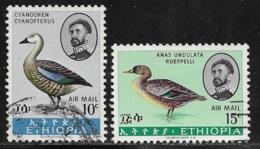 Ethiopia Scott # C107-8 Used Birds,  1967 - Ethiopia