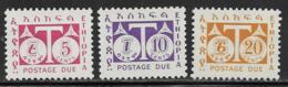 Ethiopia Scott # J58-60 Mint Hinged Postage Due, 1951 - Ethiopia