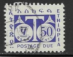 Ethiopia Scott # J61 Used Postage Due, 1951 - Ethiopia