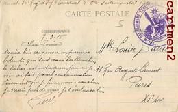 CACHET MILITAIRE ANTHELUPT 34e REGIMENT TERRITORIAL D'INFANTERIE GUERRE MILITARIA 54 LORRAINE - France
