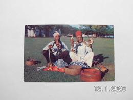 Singapore. - Indian Snake Charmers. (6 - 3 - 1956) - Singapore