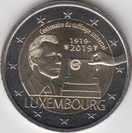 Luxembourg 2 Euro 2019 UNC > 100 Years Of Universal Suffrage In Luxembourg - Lussemburgo