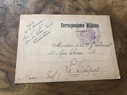 325/ CORRESPONDANCE MILITAIRE LILLERS 17 AOUT 1917 MRS LAVERSIN - Guerra 1914-18