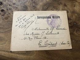 325/ CORRESPONDANCE MILITAIRE LILLERS 1917 MRS LAVERSIN - War 1914-18