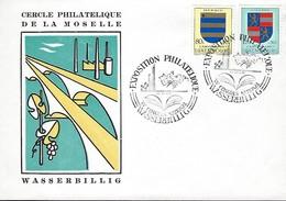 Luxembourg  -  FDC  -  22.23. 3. 1958  -  Cercle Philathélique De La Moselle - Wasserbillig - FDC