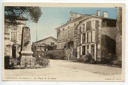 Vanxains La Place Et La Poste - France