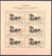 Poland 1958 - 400th Anniversary Of The Polish Post - Mi. Sheet 1072 - MNH(**) - Postfrisch - Blocks & Sheetlets & Panes