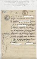 TIMBRES FISCAUX DE FRANCE  USAGE MIXTE FRANCE/MONACO  1927 RARE - Fiscale Zegels