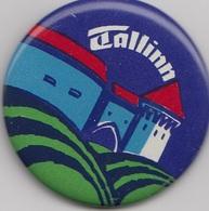 Badge TALLINN Soviet Estonia - Steden