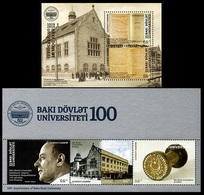 2019Azerbaijan 1492-94/B231,1495-96/B232100th Anniversary Of Baku State University - Azerbaïjan