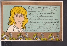 Künstlerpostkarte Henri Meunier Marguerite 1898 - Autres Illustrateurs