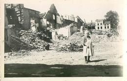 """CARTE PHOTO : DIEUZE """" UN BONJOUR DES RUINES """" GUERRE 57 MOSELLE PHOTOS BERTRAND LORRAINE - Dieuze"""