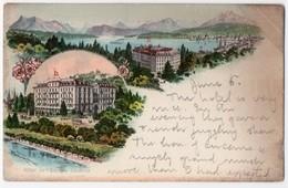 Switzerland - Luzern - Hôtel De L' Europe. Undivided Back, ± 1900, Message - LU Lucerne