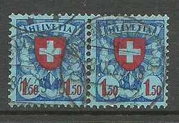 SCHWEIZ Switzerland 1924 Michel 196 Als Eine Paare O - Suiza
