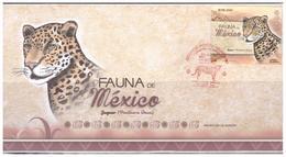 2019 MÉXICO FDC  Fauna De México, Jaguar (Panthera Onca) , FELINOS Mexico Wildlife, AZTEC CALENDAR, ARCHEOLOGY, SOBRE - Mexico