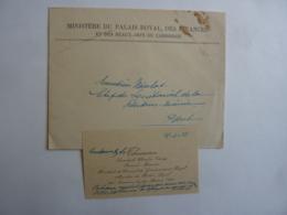CAMBODGE-  THIOUNN PREMIER MINISTRE DES FINANCES  DU PALAIS ROYAL  à PHNOM-Penh  1933 Invitation à  JAN 2020 GERA  ALB - Cartes De Visite