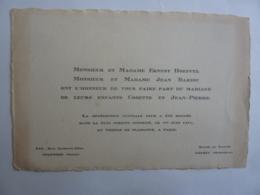 Carte  De Mariage Benédiction Nuptiale  1er Juin 1951  Paris -  JAN 2020 GERA  ALB - Annunci Di Nozze