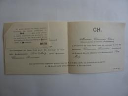 CAMBODGE  PHNOM-PENH - Faire Part De MARIAGE Cérémonie Nuptiales 9 Et 10 Mai 1946  + Une Invitation - JAN 2020 GERA  ALB - Hochzeit