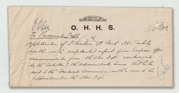 Egypt - Rare Document - O.H.H.S. - The Egyptian Sultan's Government - 1915-1921 Protectorado Británico