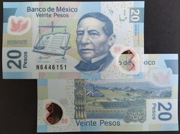 MEXICO 2020 $20 JUAREZ POLYMER Banknote Series AG Sub. N Mint Crisp, Scarce Thus - Mexico
