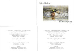 Doc 050 - Invitation / Uitnodiging - 1985-.. Oiseaux (Buzin)
