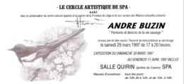 Doc 071 - Invitation / Uitnodiging (signé - 1985-.. Oiseaux (Buzin)
