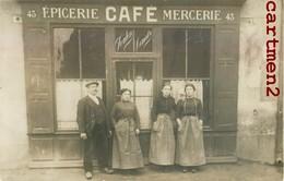 """CARTE PHOTO : DEVANTURE COMMERCE """" LEMAITRE FOULON """" EPICERIE CAFE MERCERIE A LOCALISER - Cafés"""