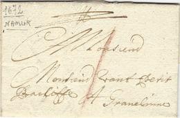 """1672 -lettre De NAMUR  Pour Gravelines ( P De C ) Port à La Craie """" 1 """" Patar ? - 1621-1713 (Paesi Bassi Spagnoli)"""