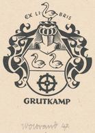 Ex Libris Grutkamp - Peter Wolbrand (1886-1972) Gesigneerd - Ex-libris