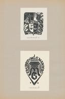 Ex Libris Petra + Gianni Mantero - Peter Wolbrand (1886-1972) Gesigneerd - Ex-libris