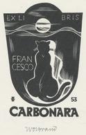 Ex Libris Francesco Carbonara - Peter Wolbrand (1886-1972) Gesigneerd - Ex-libris
