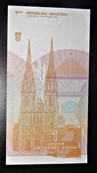 A1 BILLETS DU MONDE WORLD BANKNOTES CROATIE 1 DINARA - Billetes