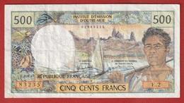 Nouvelle Calédonie - 500 FCFP - Surchargé NOUMEA - E.2 / Signatures Y. Rolland-Billecart / J. Waitzenegger - Nouméa (Nuova Caledonia 1873-1985)