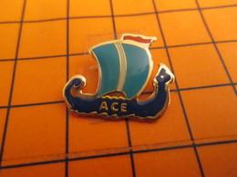 0120 Pin's Pins / Beau Et Rare  / THEME BATEAUX / ACE VOILE VOILIER DRAKKAR VIKING NORMAND NORMANDIE - Boats