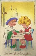 3445 CPA Humoristique - Fillette Chez La Manucure - Carte à Système Où L'on Voi Les Genoux - Cartoline Con Meccanismi