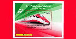 Nuovo - MNH - ITALIA - 2010  Linea Ferroviaria Ad Alta Velocità Torino-Salerno - 0,60 - BF - 6. 1946-.. Republic