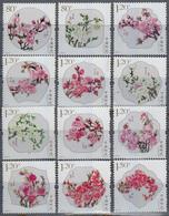 P R CHINA,  2013, Peach Blossom, Flowers, Set 12 V,  MNH, (**) - 1949 - ... République Populaire