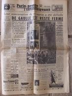 Journal Paris-Presse L'Intransigeant (26 Mars 1960) De Gaulle - Affaire Montherlant- K Aux Patrons - Page Pub Couleur - Altri