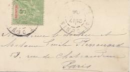 French Colonies Reunion: Letter 1904 To Paris - La Isla De La Reunion (1852-1975)