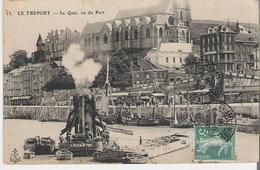LE TREPORT. CP Le Quai Vu Du Port Et Le Bateau Vapeur Ville Du Tréport - Le Treport