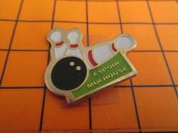 0120 Pin's Pins / Beau Et Rare  / THEME SPORTS / BOULE ET QUILLES BOWLING ESPOIR MULHOUSE CLUB - Bowling