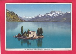Modern Post Card Of Lac Leman,Ile De Salagnon Et Dents Du Midi, Valais, Switzerland,A47. - VS Valais