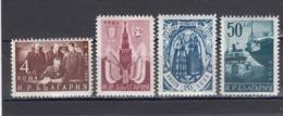 Bulgaria 1950 - Traite D'amitie Bulgaro-sovietique, YT 661/64, Neufs** - Unused Stamps