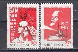 Vietnam 1982 - 65th Anniversary Of The Russian October Revolution, Mi-Nr. 1266/67, MNH** - Vietnam