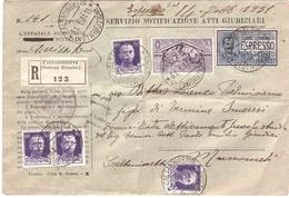 NOTIFICAZIONE ATTI  CALTANISSETTA  MUSSOMELI - 1900-44 Vittorio Emanuele III