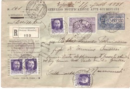 NOTIFICAZIONE ATTI  CALTANISSETTA  MUSSOMELI - 1900-44 Victor Emmanuel III.