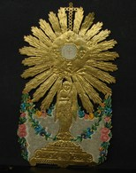 IP. 3. Image Pieuse En Forme D'ostensoir. Canivet - Imágenes Religiosas