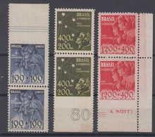 Brazil Brasil Mi# 516 + 518 + 519 ** + * Pair Imperforated Margin Pro Juventude 1940 - Brazilië
